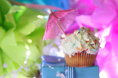 Cake with buttercream celebration Stock Photos