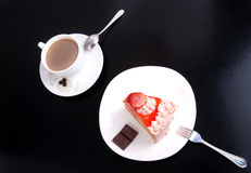Cake and cafe Royalty Free Stock Photo