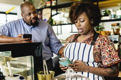 Cake cafe small business owners stock images