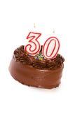 Cake: Cake om 30ste Verjaardag te vieren Stock Afbeelding