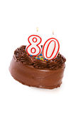 Cake: Cake to Celebrate 80th Birthday Royalty Free Stock Images