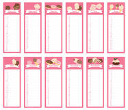 Cake Calendar Book 2016. Calendar 2016 - wall calendar book design royalty free illustration