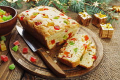 Cake with candied fruit Royalty Free Stock Photos