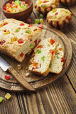 Cake with candied fruit Stock Photos