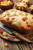 Cake with candied fruit Royalty Free Stock Photography