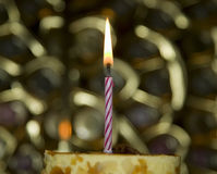 Cake with candle for celebration events Royalty Free Stock Photo