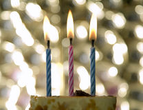 Cake with candle for celebration events Royalty Free Stock Image