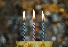 Cake with candle for celebration events Royalty Free Stock Photography