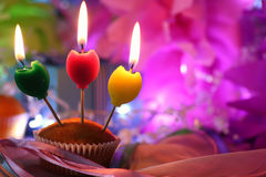 Cake candle celebration Royalty Free Stock Images