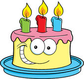 Cake with candles. Cartoon illustration of a cake with candles vector illustration