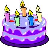 Cake, Candles, Birthday, Purple Royalty Free Stock Photo
