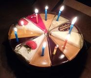 Cake with candles stock image