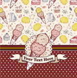 Cake candy card Stock Images