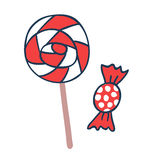 Cake candy pops vector icons illustration Royalty Free Stock Photo