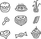 Cake candy set Stock Images