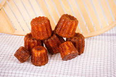 Cake canneles from France. Cakes canneles, specialties of Bordeaux, France royalty free stock image