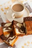 Cake with cappuccino Royalty Free Stock Photos