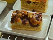Cake with caramel and nuts Royalty Free Stock Photos