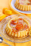 Cake with caramelised kumquats Royalty Free Stock Images