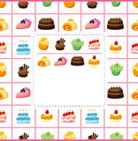 Cake card. Cartoon vector illustration vector illustration
