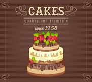 Cake Card Stock Photo