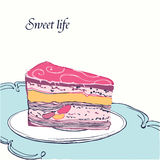 Cake card Royalty Free Stock Image