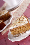 Cake with carrot. Homemade sweet cake with carrot Royalty Free Stock Photo
