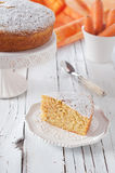 Cake with carrot and almond Royalty Free Stock Photo