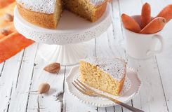 Cake with carrot and almond Royalty Free Stock Photography