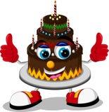 Cake cartoon thumb up Stock Image