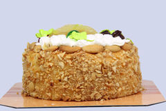 Cake with cashew nut Stock Images