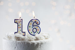 Cake: Celebrating A 16th Birthday Stock Image