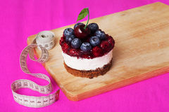 Cake and centimeter inch, beauty health, style Stock Image