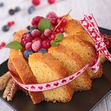 Cake charlotte with berry Stock Images