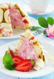 Cake Charlotte royale Stock Image