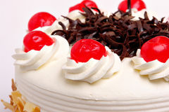 Cake with cherries Stock Images