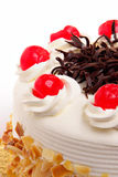 Cake with cherries Royalty Free Stock Photos