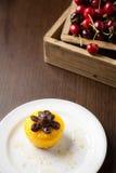 Cake and cherries Stock Image