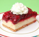 Cake with cherries. Some fresh cake with cherries Royalty Free Stock Photography