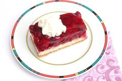 Cake with cherries. Some fresh cake with cherries Royalty Free Stock Photos
