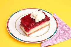 Cake with cherries. Some fresh cake with cherries Royalty Free Stock Image
