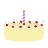 Cake with cherries Stock Photo