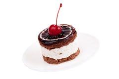 Cake with cherry Royalty Free Stock Photos