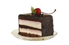 Cake with a cherry Stock Image