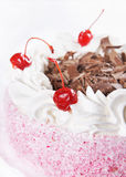 Cake with cherry Stock Photography