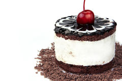 Cake_cherry Images libres de droits