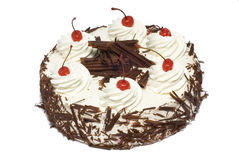 Cake with cherry. And chocolate Royalty Free Stock Photos