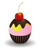Cake with cherry Stock Photo