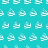 Cake Cherry Pattern Royalty-vrije Stock Afbeeldingen