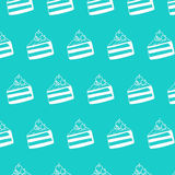 Cake Cherry Pattern. Of hand drawn Royalty Free Stock Images